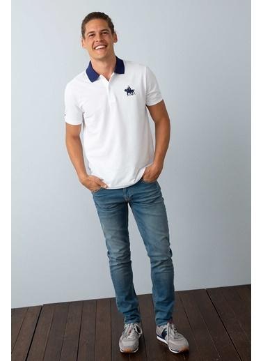 U.S.Polo Assn. Polo Yaka Tişört Beyaz